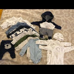 Lot of baby boy Preemie clothes
